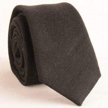Plain Tie and Handkerchief -  BLACK