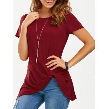 Front Knot Longline T-Shirt