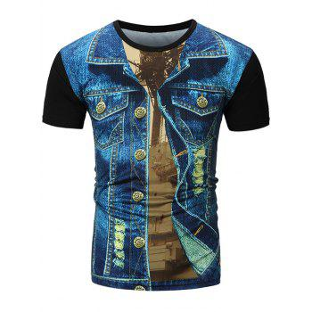Denim Jacket 3D Print T-Shirt