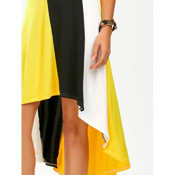 Color Block A Line High Low Slip Sundress - XL XL