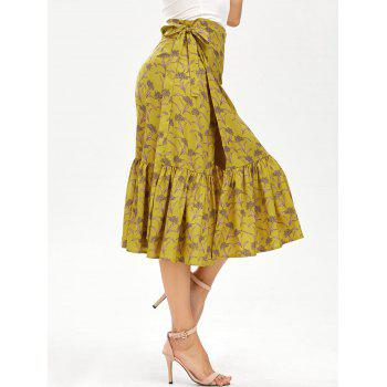 Chiffon Tiny Floral Mermaid Wrap Skirt