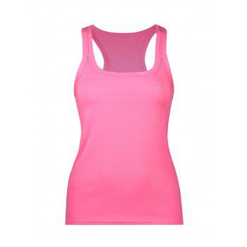 U Neck Racerback Tank with Chunky Edge