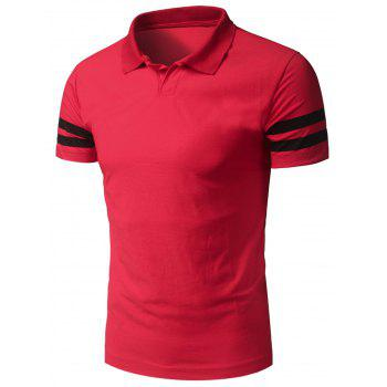 Varsity Stripe Short Sleeve Basic Polo T-Shirt