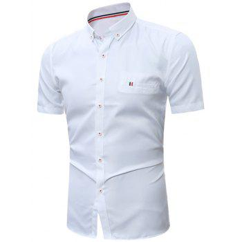 Short Sleeve Button Down Formal Shirt