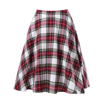 Plaid Swing Skirt
