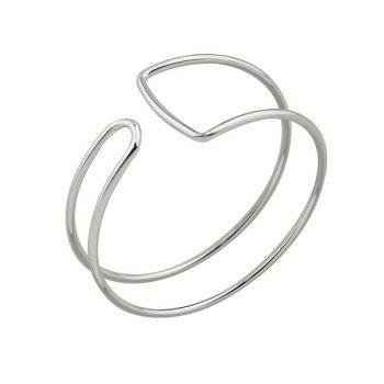 Geometric Alloy Bangle Cuff Bracelet