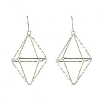 Alloy Triangle Cube Hook Earrings