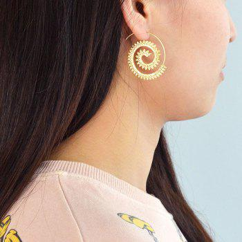 Gypsy Metal Circle Hoop Earrings