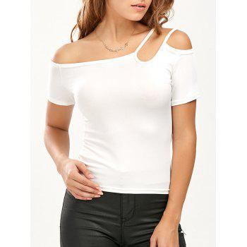 Strappy Short Sleeve Slimming Tee