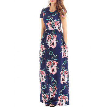 Floral Pockets High Waist Maxi Dress