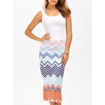 Zigzag Midi Tank Dress
