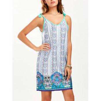 Tassel Printed Mini Summer Dress