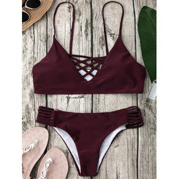 Ensemble de bikini Strappy Cross Strappy