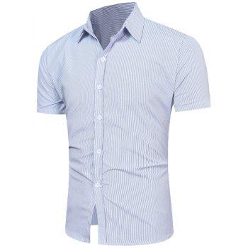 Short Sleeve Vertical Stripe Shirt