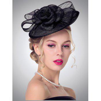 Bowknot Floral Design Cambric Cocktail Hat