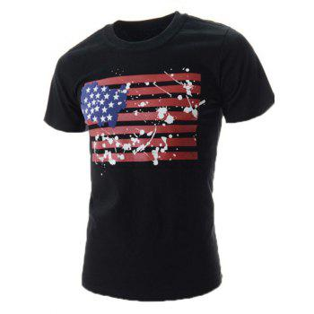 Painted Splatter American Flag T-Shirt