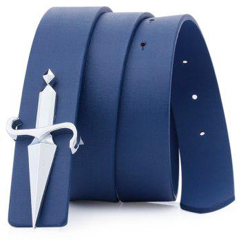 Tapered Crucifixion Artificial Leather Plate Buckle Belt