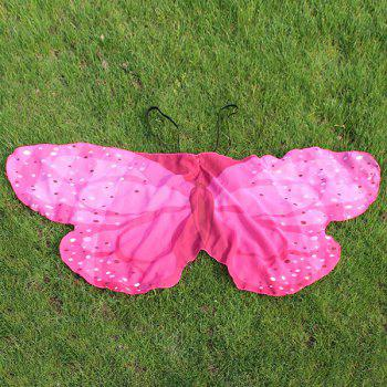 Chiffon Children Butterfly Wing Design Cape - PEACH RED