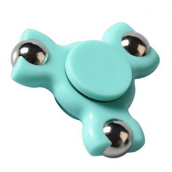 Focus Toy Triangle Ball Bearing Fidget Spinner - Bleu clair
