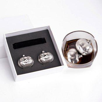 Stainless Steel Pumpkin 2 PCS Ice Cubes Stone Set