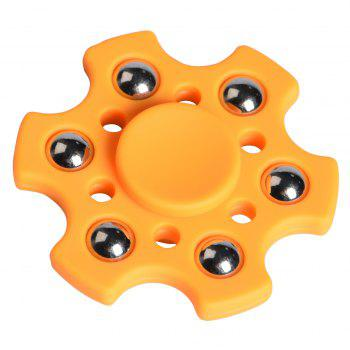 Snowflake Shape Ball Bearing Fidget Finger Spinner - ORANGE