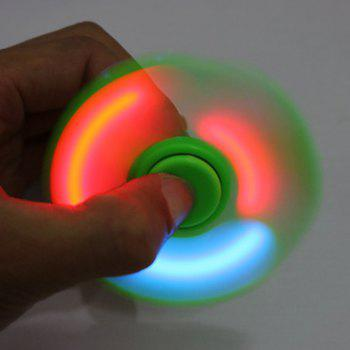 Finger Gyro Fidget Spinner with Colorful Flashing LED Lights - GREEN
