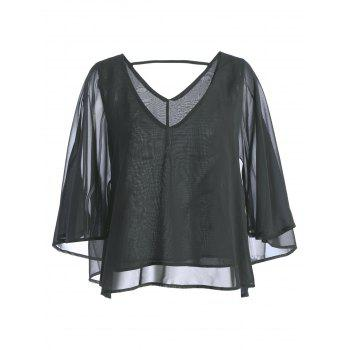 Plunging Neckine Cut Out Top