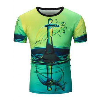 Water Drop 3D Print T-Shirt