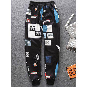 Drawstring 3D Graphic Printed Jogger Pants