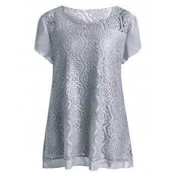 Plus Size Long Lace Blouse