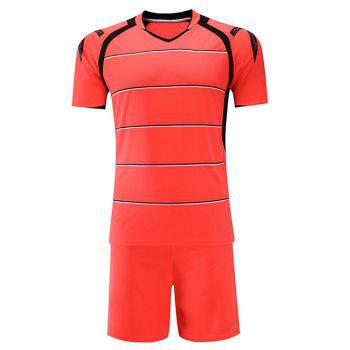 Students Stripe Soccer Jersey Breatheble Sportwear