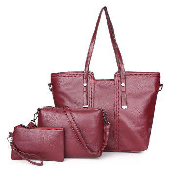 PU Leather 3 Pieces Shoulder Bag Set