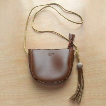 Wood Ball Tassel Crossbody Bag