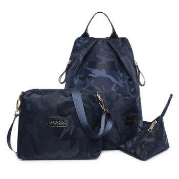 Camo Print 3 Pieces Backpack Set