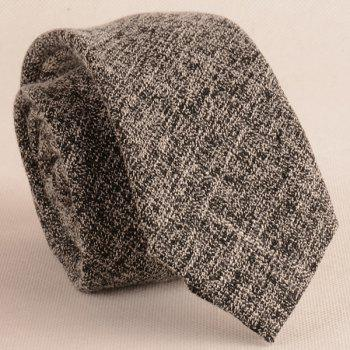 Blending Linen Grain Handkerchief and Neck Tie -  BLACK WHITE