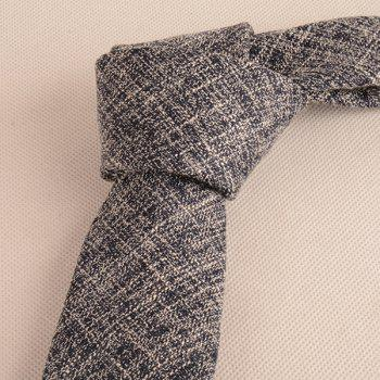 Blending Linen Grain Handkerchief and Neck Tie -  CADETBLUE / WHITE