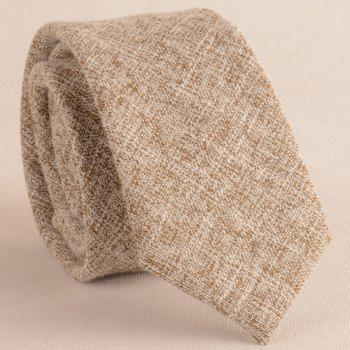 Blending Linen Grain Handkerchief and Neck Tie - KHAKI