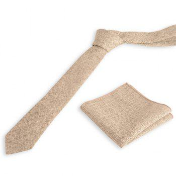 Blending Linen Grain Handkerchief and Neck Tie