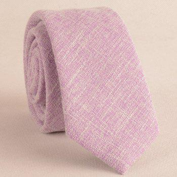 Blending Linen Grain Handkerchief and Neck Tie -  LIGHT PURPLE