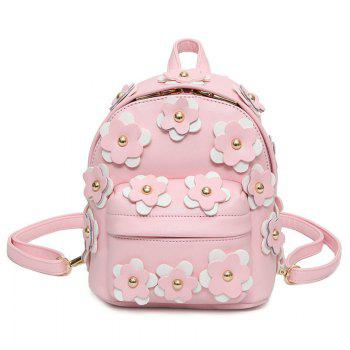 Leather Flowers Backpack