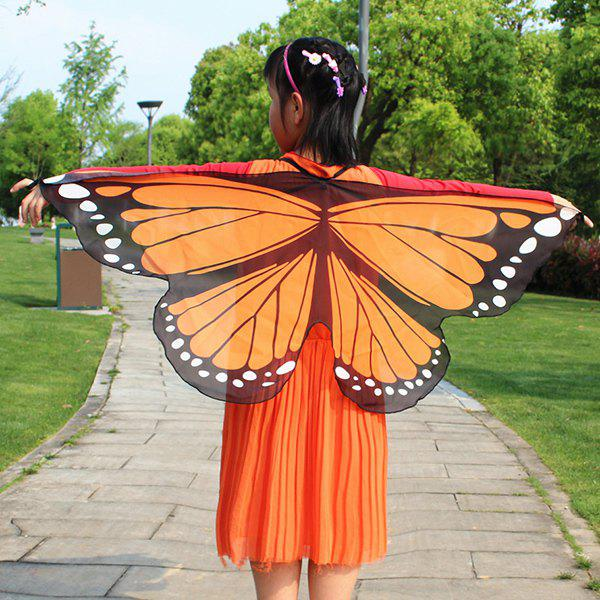 Chiffon Children Butterfly Wing Design Cape gradient color chiffon butterfly wing cape pashmina