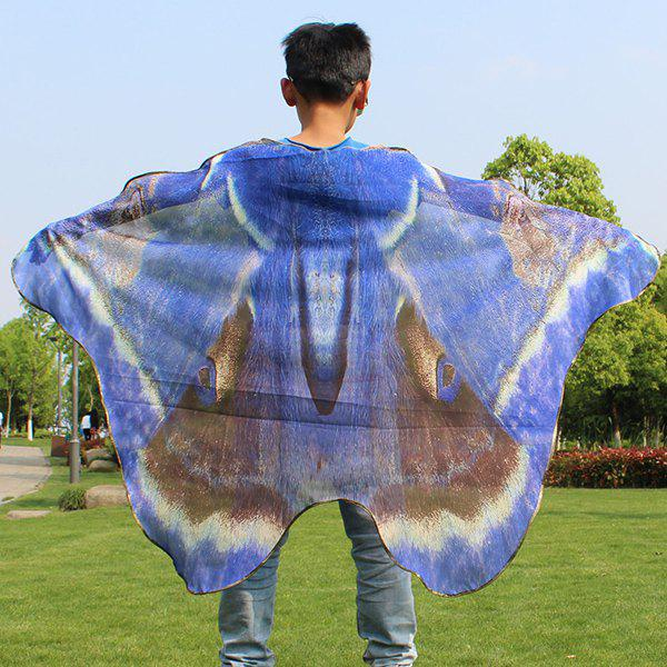 Children Novelty Wing Chiffon Cape - ROYAL