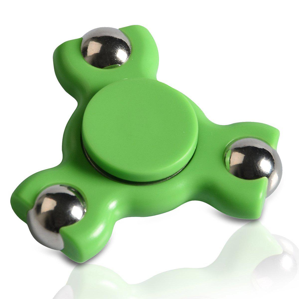 Focus Toy Triangle Ball Bearing Fidget Spinner - GREEN