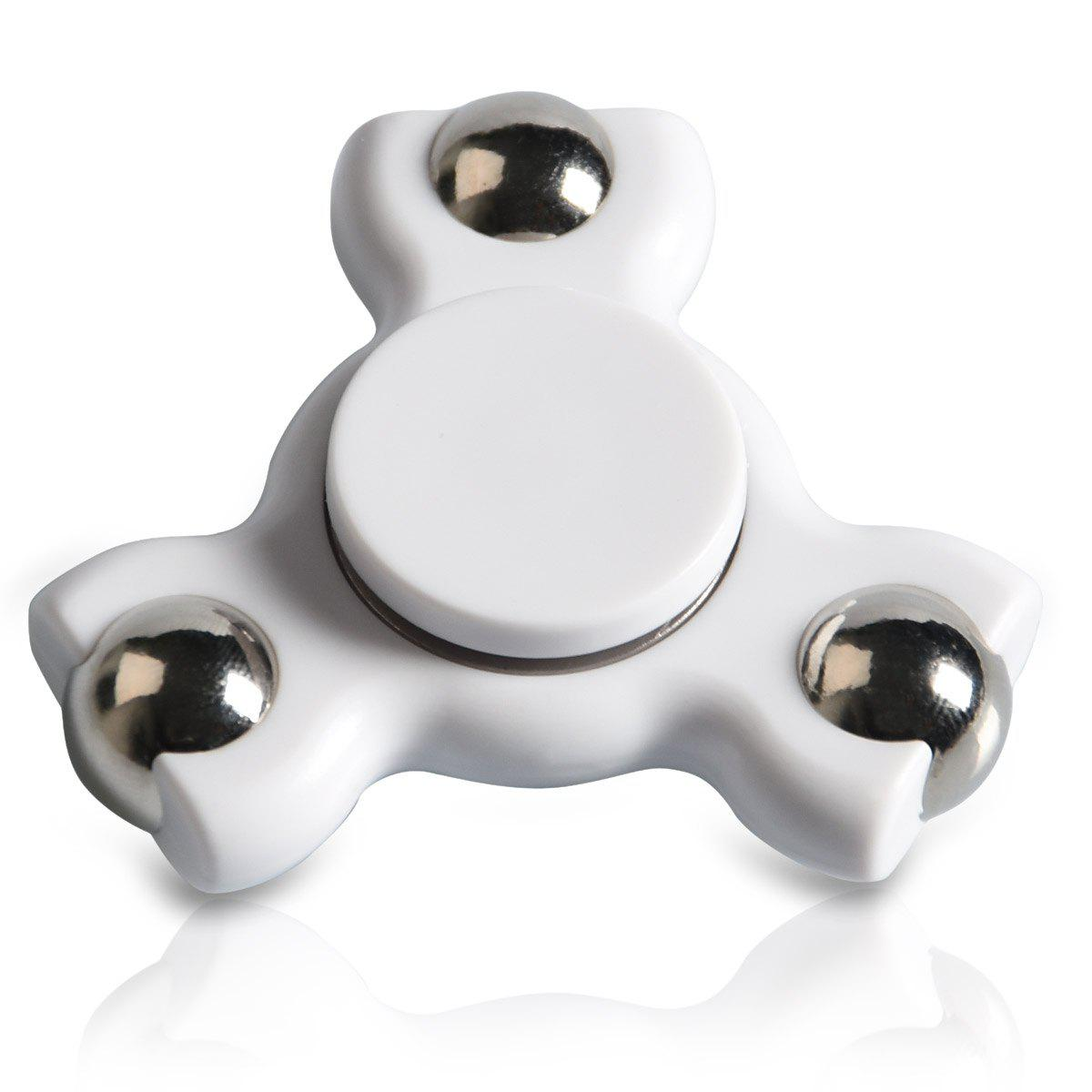 Focus Toy Triangle Ball Bearing Fidget Spinner - Blanc
