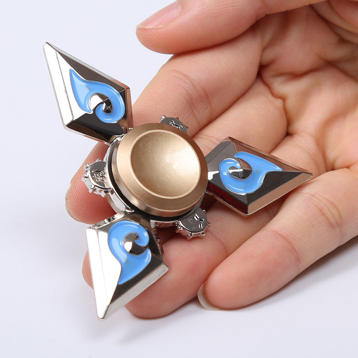 Edc Metal Fidget Hand Tri Spinner Toy For Relaxing Silver