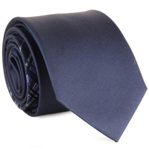 Striped Mulberry Silk Neck Tie - CADETBLUE