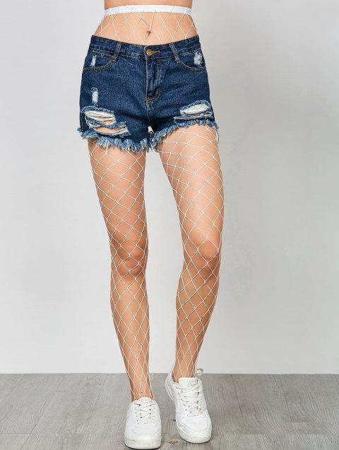 84cb1b8fa 41% OFF  2019 High Waisted Exotic Fishnet Tights In WHITE