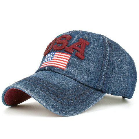 Ameriacn Element Embroidery Baseball Cap - RED