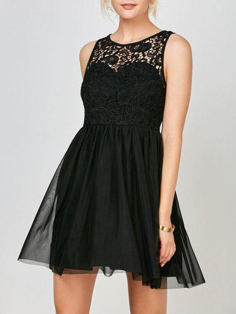 41 Off 2018 Sleeveless Voile Lace Short Cocktail Semi Formal Dress