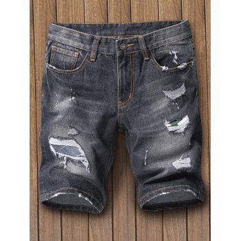 Regular Fit Destroy Denim Shorts